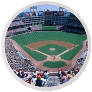 Baseball Stadium, Texas Rangers V Round Beach Towel