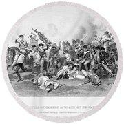 Battle Of Camden, 1780 Round Beach Towel