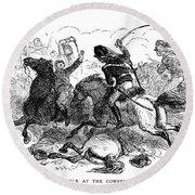 Battle Of Cowpens, 1781 Round Beach Towel