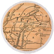Battle Of Gettysburg, 1863 Round Beach Towel