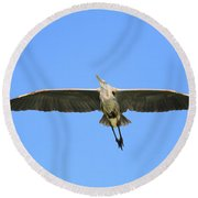 Beauty Of Flight Round Beach Towel