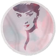 Beauty Of The Century Round Beach Towel