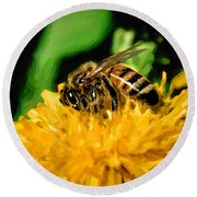 2 Bee Or Not 2 Bee Round Beach Towel