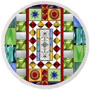 Bejeweled 1 Round Beach Towel