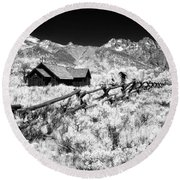 Beyond The Fence Round Beach Towel