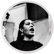Billie Holiday (1915-1959) Round Beach Towel