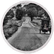 Black And White Buggy Round Beach Towel