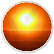 Blinded By The Light Round Beach Towel