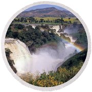 Blue Nile Falls Round Beach Towel