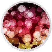 Bokeh Background Round Beach Towel