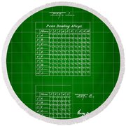 Bowling Score Sheet Patent 1904 - Green Round Beach Towel
