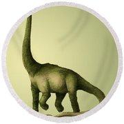 Brachiosaurus Round Beach Towel