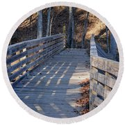 Bridge To The Forest Round Beach Towel