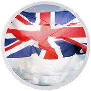 British Flag 3 Round Beach Towel
