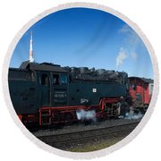 Brockenbahn Round Beach Towel