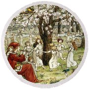 Browning: Pied Piper Round Beach Towel