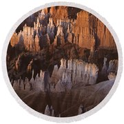Bryce Canyon National Park Hoodo Monoliths Sunrise Southern Utah Round Beach Towel