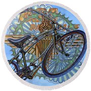 Bsa Parabike Round Beach Towel by Mark Jones