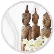 Buddha Figurine  Round Beach Towel