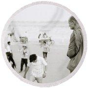 Buddhism Round Beach Towel