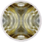 Cafe Au Lait Kaleidoscope Round Beach Towel