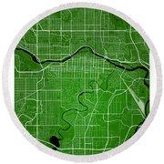 Calgary Street Map - Calgary Canada Road Map Art On Colored Back Round Beach Towel