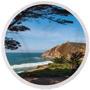 California Coast Round Beach Towel