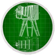 Camera Patent 1885 - Green Round Beach Towel