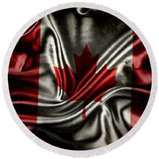 Canadian Flag  Round Beach Towel