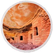 Canyon Ruins Round Beach Towel