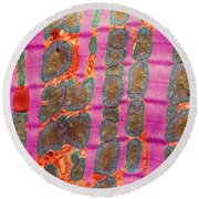 Cardiac Muscle, Tem Round Beach Towel