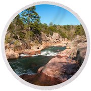 Castor River Shut Ins Round Beach Towel
