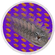 Cat Trip Pop 002 Limited Round Beach Towel