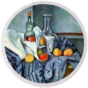 Cezanne's The Peppermint Bottle Round Beach Towel