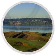 Chambers Bay Golf Course - University Place - Washington Round Beach Towel