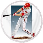 Chase Utley Round Beach Towel
