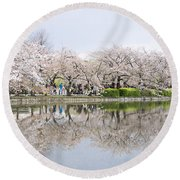 Cherry Blossoms In Tokyo Round Beach Towel