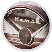 Chevrolet Belair Nomad Dashboard Emblem Round Beach Towel