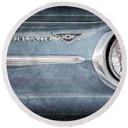 Chevrolet Corvair Emblem Round Beach Towel