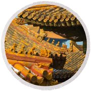 China Forbidden City Roof Decoration Round Beach Towel
