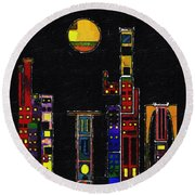 Chinatown Round Beach Towel