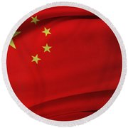 Chinese Flag Round Beach Towel