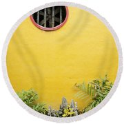 Chinese Temple Garden Detail In Vietnam Round Beach Towel
