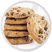 Chocolate Chip Cookies Round Beach Towel