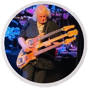 Chris Squire Of Yes Round Beach Towel