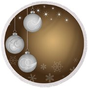 Christmas Background Round Beach Towel