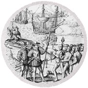 Christopher Columbus (1451-1506) Round Beach Towel