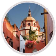 Church Of San Rafael Round Beach Towel