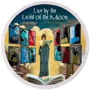 The New Learning Temple With Circe Round Beach Towel