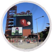Citizens Bank Park - Philadelphia Phillies Round Beach Towel by Frank Romeo